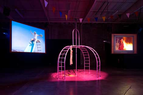 """Mike Kelley and Michael Smith  """"A Voyage of Growth and Discovery"""", 2009,  mixed-media installation, multi-channel  video, sound installations and sculpture."""