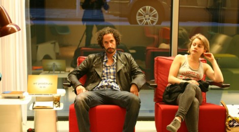 """Sergio Bromberg (on left) """"Art Prostituta"""" Amsterdam, 2011;  CitizenM Hotel, photo by Klaus from Germany who works in the food industry"""