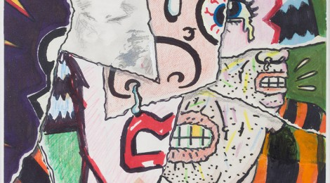 Art Spiegelman Study for the Cover of RAW no. 7, The Torn-Again Graphic Mag. Mixed media. Ca. 1985