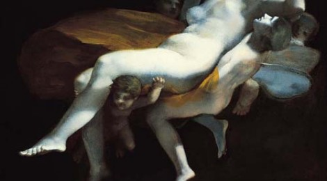 Pierre-Paul Prud'hon, The Abduction of Psyche by Zephyrus to the Palace of Eros, after 1808, probably before 1820, Oil on canvas, Norton Simon Art Foundatio
