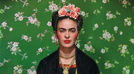 Frida Kahlo on White Bench photograph by Nickolas Muray