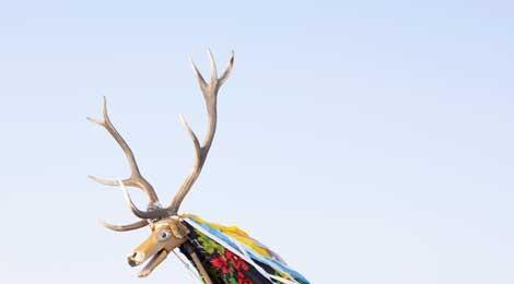 Charles Fréger, Cerbul din Corlata, Romania, 2010-2011, © Charles Fréger