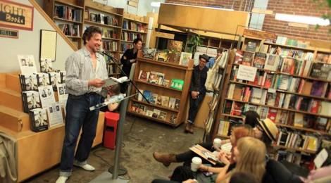 Richard Hell reading at Skylight Books in Los Feliz, photo by Hank Cherry