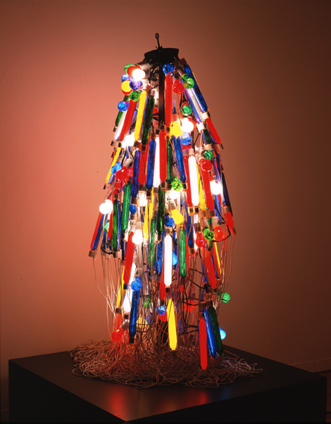 Tanaka Atsuko, Electric Dress, 1956 (refabricated 1986), Takamatsu City Museum of Art, Japan © Ito Ryoji, courtesy Takamatsu City Museum of Art