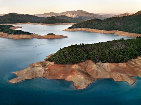 Edward Burtynsky, Shasta Lake Reservoir, Northern California, USA, 2009, Courtesy of Rena Bransten Gallery, San Francisco, CA