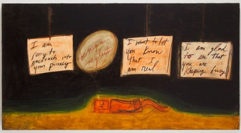 Mira Schor, Morning in America, 2013, Image courtesy CB1 Gallery, Los Angeles