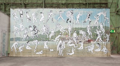Jim Shaw, Mississippi River Mural, 2013, Courtesy of the artist and Blum & Poe, Los Angeles