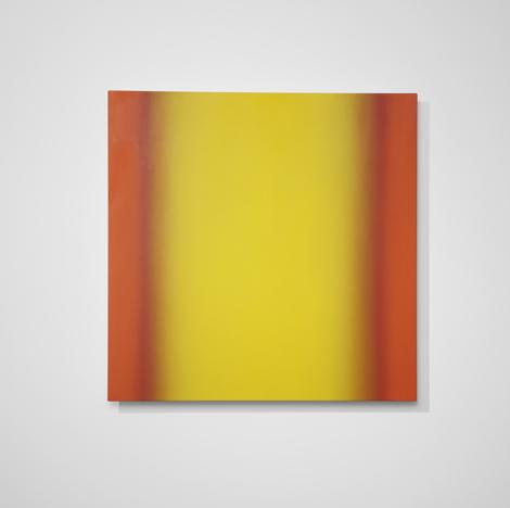 "Blue Orange 9 S4848 Yellow Orange Interplay Series 2013 oil on canvas 48 x 48 ""Colorimetry"""