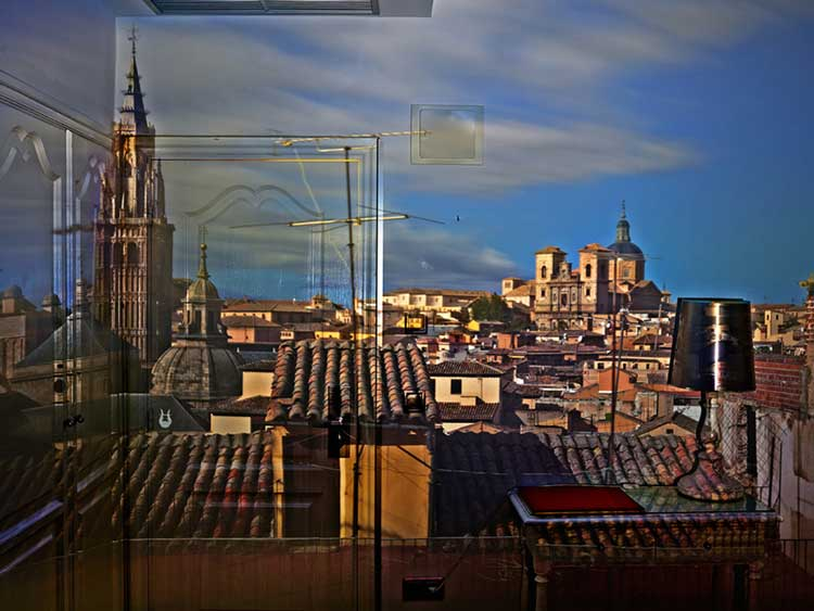 Abelardo Morell, View of Toledo in Hotel Room, Toledo, Spain, 2013
