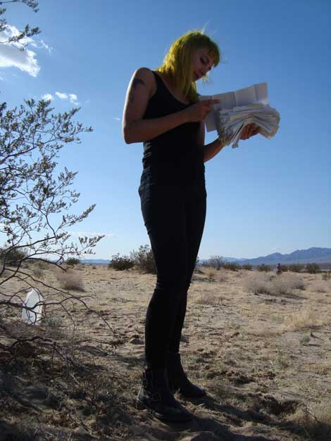 "Anastasia Hill ""SHU"" Out in the desert, Hill read letters from a man who wrote to her family from prison for 8 years"