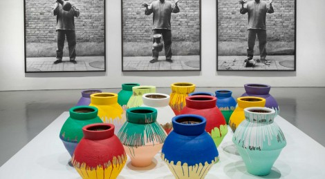 Ai Weiwei (Chinese, b. 1957). Colored Vases, 2007‒10. Han Dynasty vases and industrial paint, dimensions variable. Courtesy of Ai Weiwei Studio. Installation view of Ai Weiwei: According to What? at the Hirshhorn Museum and Sculpture Garden, Washington D.C., 2012. Photo by Cathy Carver
