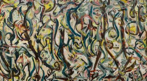 Jackson Pollock, Mural, 1943, detail