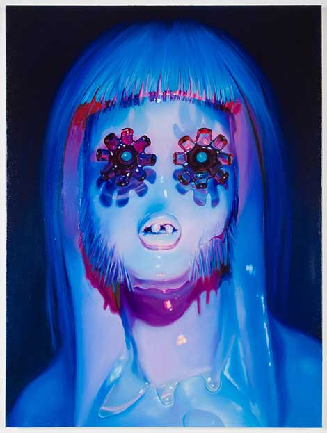 LAUREN SATLOWSKI Lights Out, Hippie, 2014 Oil on canvas