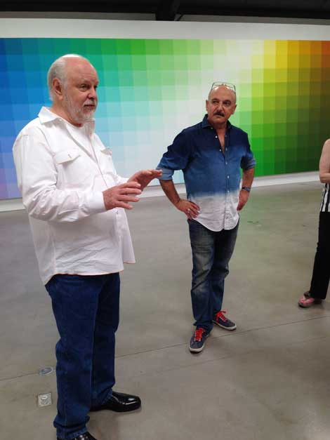 "with Robert Swain at his Goldman with at Santa Monica Museum of Art at Robert Swain's exhibit ""The Form of Color"""