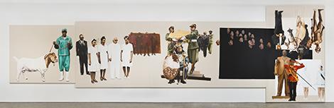 "Meleko Mokgosi, ""Pax Kaffraria: Fully Belly"", 2014. Courtesy Honor Fraser Gallery, Photo Brian Forrest."