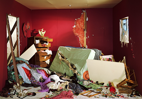 Wall The Destroyed Room Damage Control: Art and  Destruction since 1950