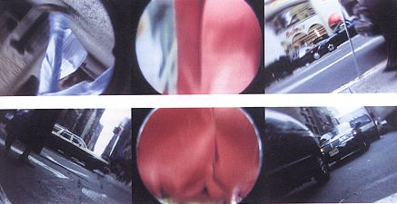 DRUMROLL,1998 Colour video projection, triptych. Sound - 22 min 1 sec