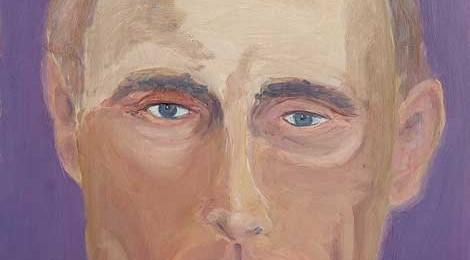 Portrait of Vladimir Putin, as painted by George W. Bush. courtesy Grant Miller / George W. Bush Presidential Center