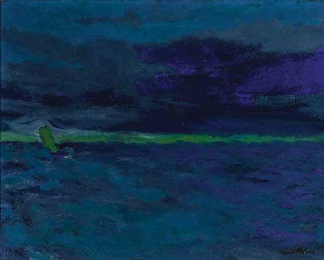 Emil Nolde, Blue Sea (Blaues Meer), circa 1914, Virginia Museum of Fine Arts © Nolde Stiftung Seebüll