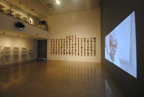 Installation view of Racial Imaginary at Nichols Gallery, Pitzer College Art Galleries,  Courtesy of Pitzer College Art Galleries