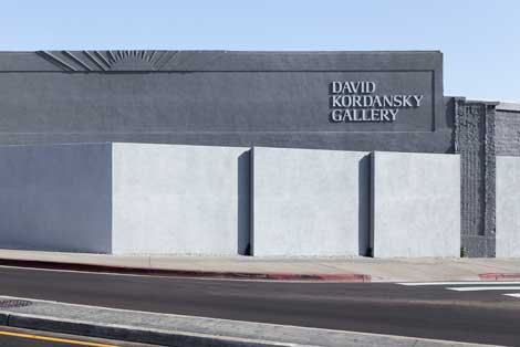 David Kordansky Gallery in Mid-Wilshire. Photo by Fredrik Nilsen, courtesy David Kordansky Gallery