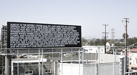 Robert Montgomery, Above the Streets, 2014. Photo by Olivier Chatard.