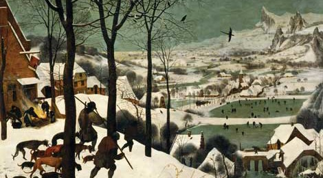 Pieter Bruegel the Elder, The Hunters in the Snow (Winter),1565 (detail).