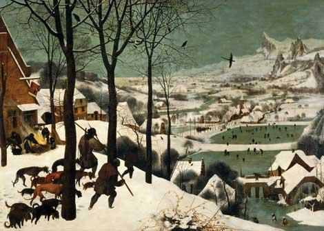 Pieter Bruegel the Elder, The Hunters in the Snow (Winter),1565 (detail).