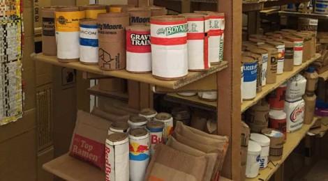 Bob Snead, Cardboard Dollar Store at Art Basel