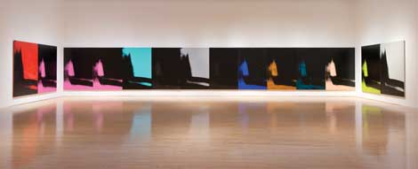 """Installation view of """"Andy Warhol: Shadows"""" photo byBrianForrest. ©2014, The Andy Warhol Foundation for the Visual Arts, Inc./Artists Rights Society(ARS), New York."""
