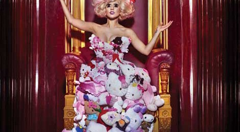 Hello Kitty x Lady Gaga Plush Dress, 2009, photo by Markus + Indrani, styled by GK Reid.