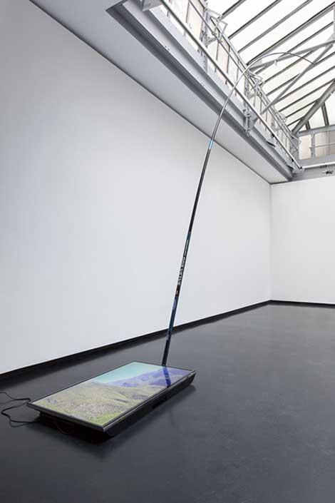 "Pierre Clément, ""Off the hook"" (2014) installation shot"