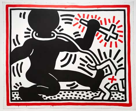 Keith Haring (1958–1990) Untitled (Apartheid ), 1984, Stedelijk Museum, Amsterdam © 2014, Keith Haring Foundation