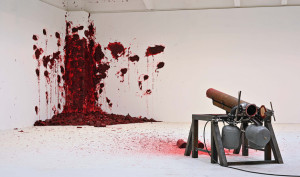 "Anish Kapoor, ""Shooting Into the Corner"" (2009)"