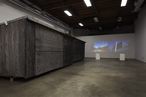 Al Payne, The Painting Sheds & Paris, 2015, installation view, photo courtesy of The Box, LA and Chris Payne.