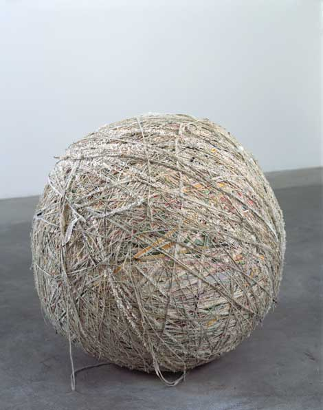 Analia Saban, The Painting Ball (48 Abstract, 42 Landscapes, 23 Still Lives, 11 Portraits, 2 Religious, 1 Nude), 2005, courtesy the artist.
