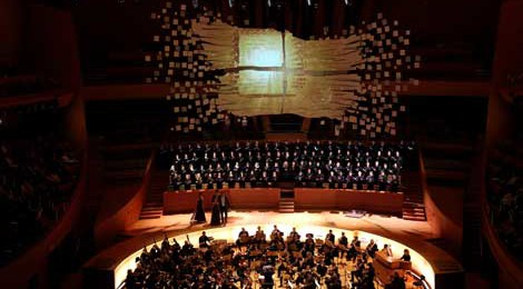 From the Missa Solemnis performance at Walt Disney Concert Hall on January 9,  courtesy Mathew Imaging.