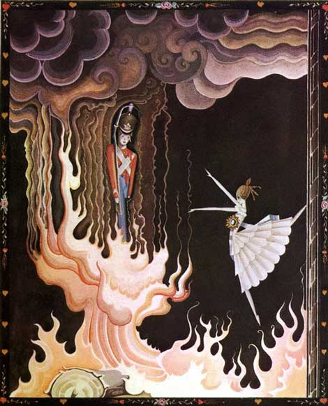 Kay Nielsen, The Hardy Tin Soldier, from Fairy Tales by Hans Andersen, 1924.