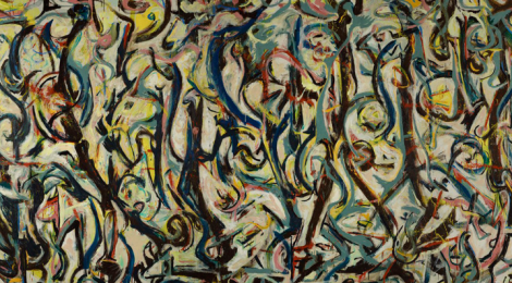 Jackson Pollock, Mural, 1943, (detail) The University of Iowa Museum of Art, Gift of Peggy Guggenheim, 1959.6. Reproduced with permission from the University of Iowa.