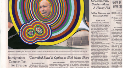 Fred Tomaselli, Apr. 28, 2010, (2010); Private collection, New York