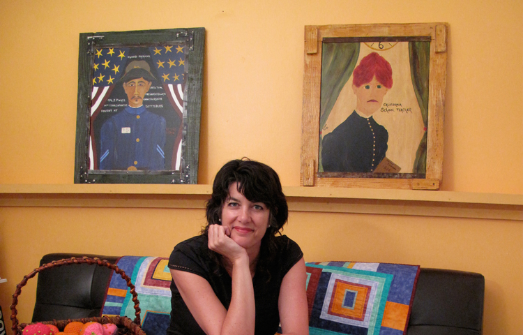 Paige Wery in her gallery, photo by Carol Cetrone.