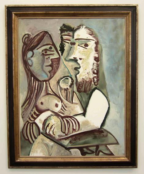 Pablo Picasso ,Homme et femme I, 1971, at Acquavella.