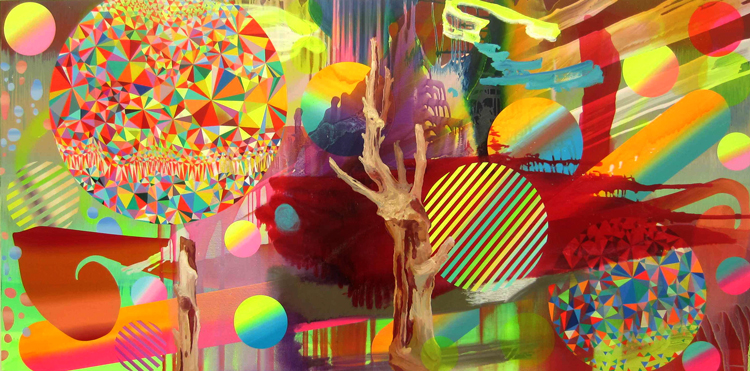 Satoshi Ohno, Dating in Ocean of Trees, 2015, at Tomio Koyama Gallery.