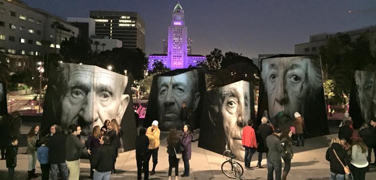Public art installation by Ara Oshagan and Levon Parian