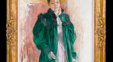 Berthe Moriset, Girl in a Green Coat, 1894, courtesy M.S. Rau Antiques, New Orleans.