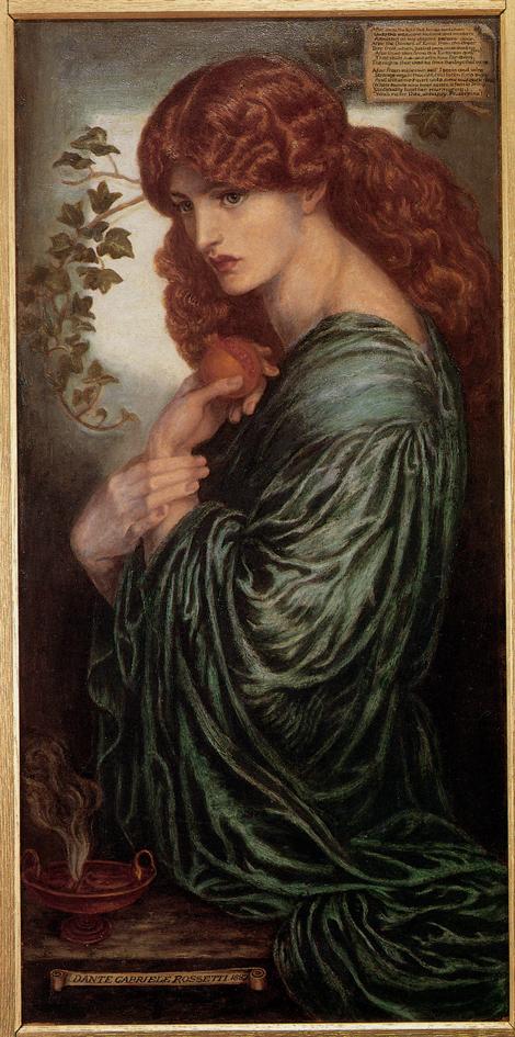 Dante Gabriel Rossetti, Jane Morris and the Pomegranate, 1874.