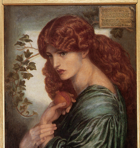 Dante Gabriel Rossetti, Jane Morris and the Pomegranate, 1874. (detail)