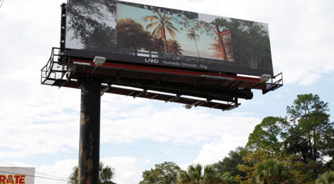 Shana Lutker, Onward and Upward, 10 billboards, Jackonville, FL, 2013.  A LAND Exhibition: The Manifest Destiny Billboard Project.