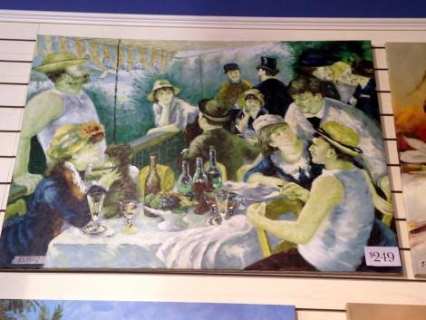 Renoir painting in Aaron Brothers.
