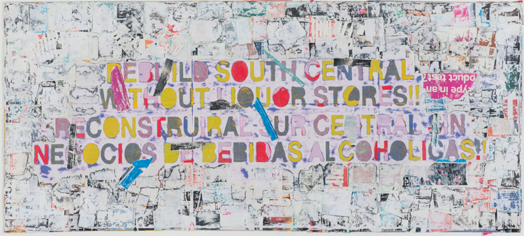 Mark Bradford, Rebuild South Central, 2015. Mixed Media On Canvas. 43 X